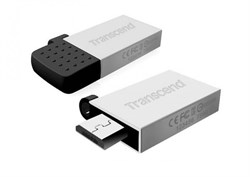 Флеш-накопитель USB  32GB  Transcend  JetFlash 380  серебро  (USB+microUSB)  for Android smartphones - фото 9602