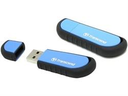 Флеш-накопитель USB  32GB  Transcend  JetFlash V70  голубой противоударный - фото 9611