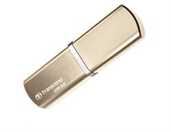Флеш-накопитель USB 3.0  8GB  Transcend  JetFlash 820G  золото металл - фото 9628