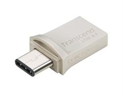 Флеш-накопитель USB  3.1  16GB  Transcend  JetFlash 890S OTG  водонепроницаемая  серебро металл - фото 9630