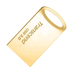 Флеш-накопитель USB 3.0  16GB  Transcend  JetFlash 710  золото металл - фото 9632