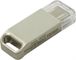 Флеш-накопитель USB  3.1  32GB  Transcend  JetFlash 850S OTG  водонепроницаемая  серебро металл - фото 9644
