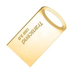 Флеш-накопитель USB 3.0  64GB  Transcend  JetFlash 710  золото металл - фото 9659