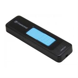 Флеш-накопитель USB 3.0  64GB  Transcend  JetFlash 760  чёрный/голубой - фото 9663