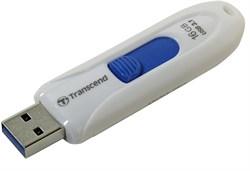 Флеш-накопитель USB 3.0  64GB  Transcend  JetFlash 790  белый - фото 9665