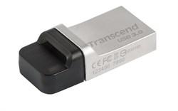 Флеш-накопитель USB 3.0  64GB  Transcend  JetFlash 880  серебро металл - фото 9667