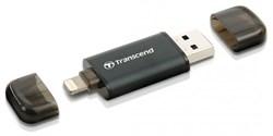 Флеш-накопитель USB  3.1  128GB  Transcend  JetDrive Go 300  (USB/lightning)  MFi  чёрный - фото 9669