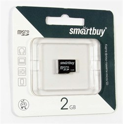 Карта памяти MicroSD  2GB  Smart Buy без адаптера - фото 9677