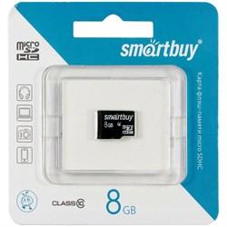 Карта памяти MicroSD  8GB  Smart Buy Class 10 без адаптера - фото 9689