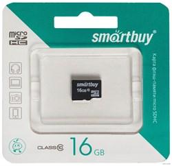 Карта памяти MicroSD  16GB  Smart Buy Class 10 без адаптера - фото 9704