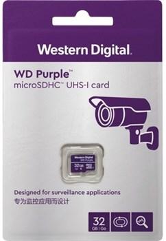 Карта памяти MicroSD  32GB  WD Class 10 Purple Surveillance без адаптера - фото 9710