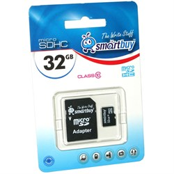 Карта памяти MicroSD  32GB  Smart Buy Сlass 10 без адаптера - фото 9723