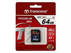 Карта памяти SDXC  64GB  Transcend Class 10 UHS-I (300x) - фото 9792