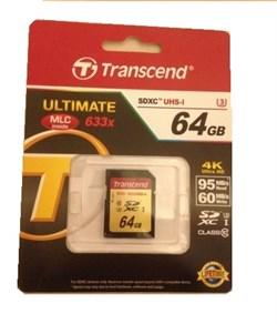 Карта памяти SDXC  64GB  Transcend Class 10 UHS-Il U3 - фото 9796