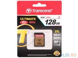 Карта памяти SDXC  128GB  Transcend Class 10 UHS-I U3 (95/60 Mb/s) - фото 9802