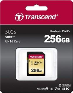 Карта памяти SDXC  256GB  Transcend Class10 UHS-I U3 - фото 9804