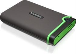 """Внешний жесткий диск HDD  Transcend  1 TB  М3 серо-зелёный, 2.5"""", USB 3.1 - фото 9815"""