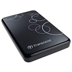 """Внешний жесткий диск HDD  Transcend   500 GB  A3 Anti-Shock чёрный, 2.5"""", USB 3.0 - фото 9823"""