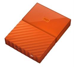 "Внешний жесткий диск HDD  WD  2 TB  My Passport Slim оранжевый, 2.5"", USB 3.0 - фото 9835"
