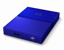 """Внешний жесткий диск HDD  WD  2 TB  My Passport Slim синий, 2.5"""", USB 3.0 - фото 9836"""