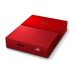"""Внешний жесткий диск HDD  WD  4 TB  My Passport красный, 2.5"""", USB 3.0 - фото 9847"""