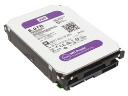 Внутренний жесткий диск HDD  WD  8TB  IntelliPower, SATA-III, 128 Mb, 3.5'', DV, пурпурный, для видеонаблюдения - фото 9888