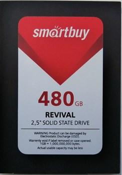 """Твердотельный внутренний диск SSD  Smart Buy  480GB  Revival, SATA-III, R/W - 525/500 MB/s, 2.5"""", PS3110, TLC - фото 9929"""