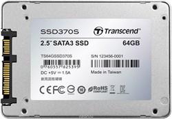 "Твердотельный внутренний диск SSD  Transcend   64GB  370S, SATA-III, R/W - 560/460 MB/s, 2.5"", TS6500, MLC - фото 9937"