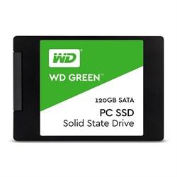 Твердотельный внутренний диск SSD  WD  120GB, SATA-III, R/W - 540/465 MB/s, (M.2), 2280, TLC, зелёный - фото 9962