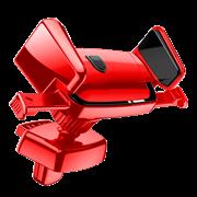 Автомобильный держатель Baseus Robot Air Vent Car Mount, красный (SUJXS-09)