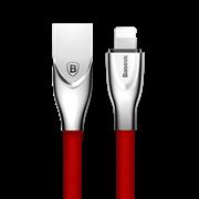Кабель Baseus Zinc Fabric Cloth Weaving Cable USB For IP 2A 1M, Красный (CALXN-09)