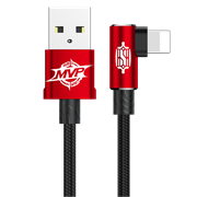 Кабель Baseus MVP Elbow Type Cable USB For IP 1.5A 2M, Красный (CALMVP-A09)