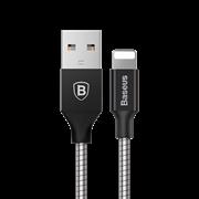 Кабель Baseus Mechanical Era Metal Cable 1M For Apple , Черный матовый, (CALJS-0A)