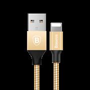 Кабель Baseus Mechanical Era Metal Cable 1M For Apple , Золотой, (CALJS-0V)