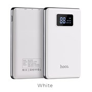 Внешний аккумулятор Hoco B23-flowed power bank (Lithium polymer) (10000 mAh)  white