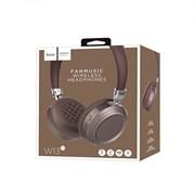 Беспроводные Bluetooth наушники Hoco W13 Fanmusic  (коричневый)