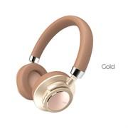 Беспроводные Bluetooth наушники Hoco W10 Cool Yin (Золото)