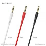 AUX кабель Borofone BL1 AudioLink PVC AUX Audio Cable (Red)