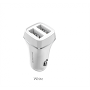 Автомобильные зарядное устройствоBorofone BZ2 JoyRoad Dual USB Port Car Charger Set Type-C (2.4A) (White)