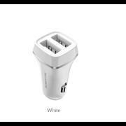 Автомобильные зарядное устройствоBZ2 JoyRoad Dual USB Port Car Charger Set Micro(2.4A) (White)