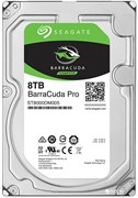 Внутренний жесткий диск HDD  Seagate  8TB  BarraCuda Pro, SATA-III, 7200 RPM, 256 Mb, 3.5''