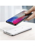 Беспроводная зарядка Baseus Three-coil Wireless Charging Pad (With desktop holder) (WXHSD-B02)