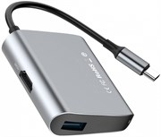 Хаб Baseus Enjoyment series Type-C to HDMI+USB3.0 HUB Adapter Gray (CATSX-D0G)