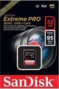 Карта памяти SDXC  32GB  SanDisk Class 10 Extreme Pro V30 UHS-I U3 (95 Mb/s)