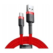 Кабель Baseus cafule  Cable USB For Type-C 2A 2M Красный (CATKLF-C09)