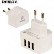 Сетевое зарядное устройство Remax 3.1A 3 USB Charger Moon RP-U31 white