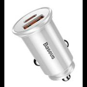 Автомобильное зарядное устройство Baseus Circular Plastic A+C 30W PPS Car Charger (CCALL-YS02)