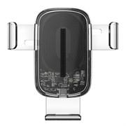 Автомобильный держатель с беспроводной зарядкой Baseus Explore Wireless Charger Gravity Car 15W transparent (WXYL-K02)