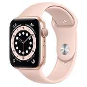 Часы Apple Watch 6 (Корпус из алюминия золотого цвета - Спортивный ремешок)