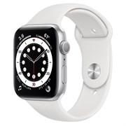 Часы Apple Watch 6 (Корпус из алюминия серебристого цвета - Спортивный ремешок)